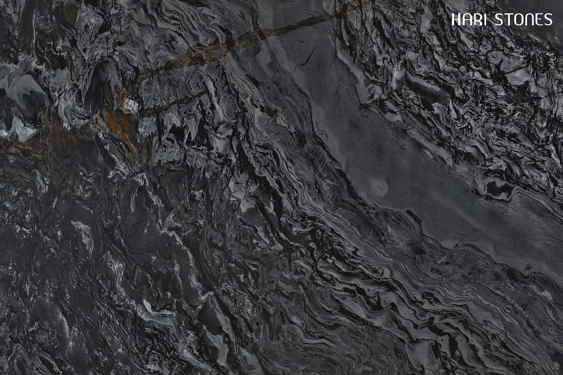 Black Fantasy Leather Granite Slabs Suppliers