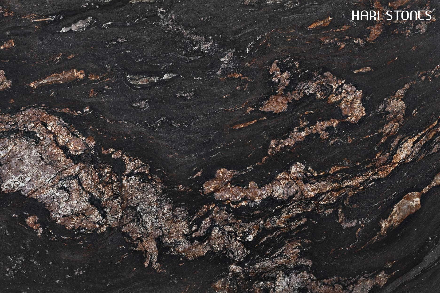 Magma Black Leather Slabs Distributors