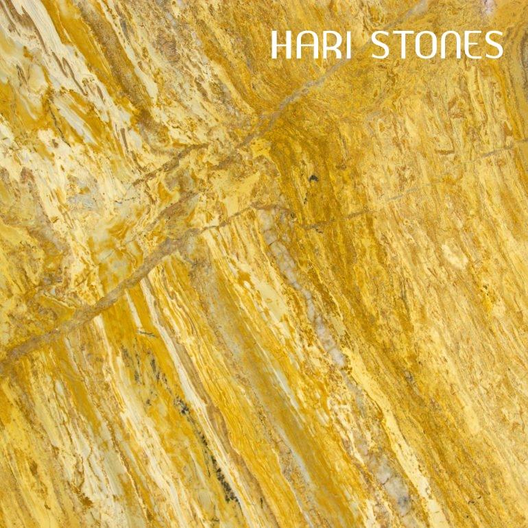 Yellow Bamboo Granite Slabs