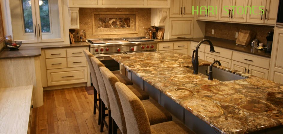 Where Semi Precious Countertops Are a Great Idea