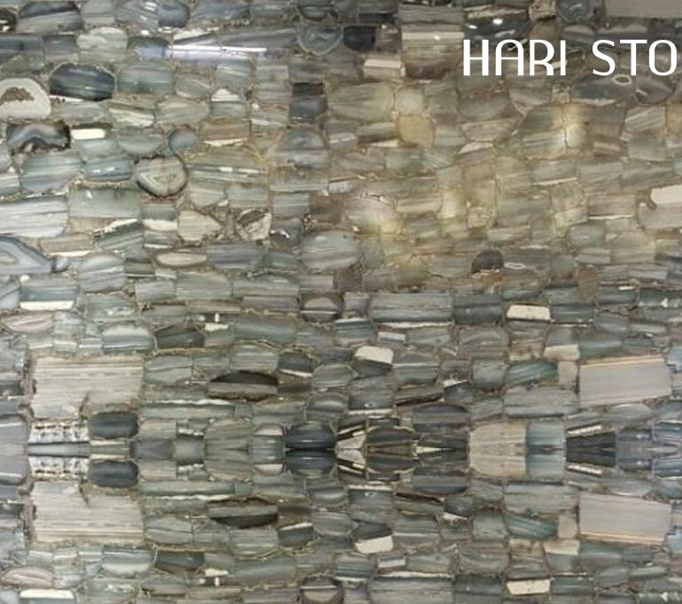 Agata Striata Blue Semi Precious Slabs