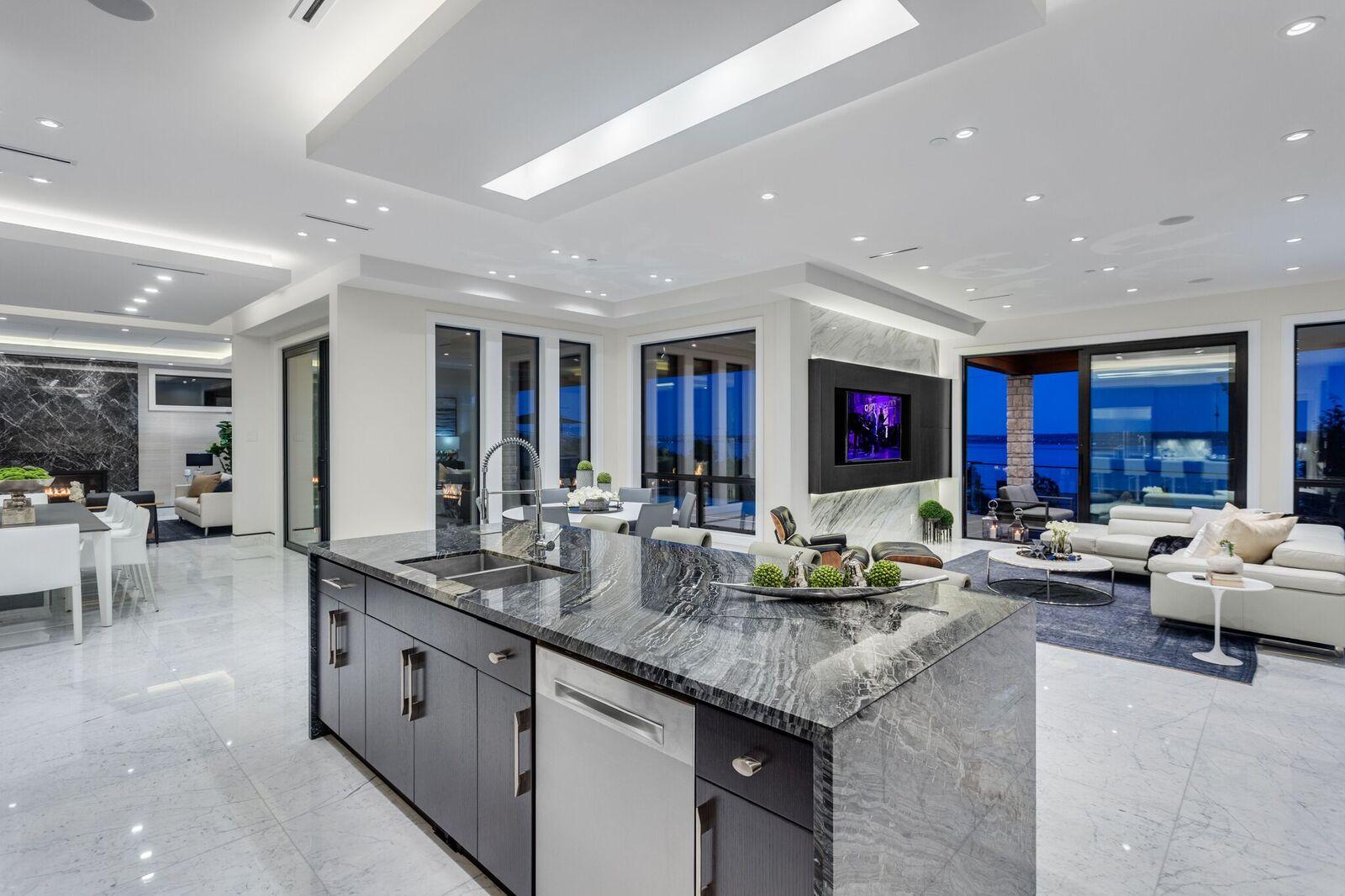 Zebra Marble Kitchen