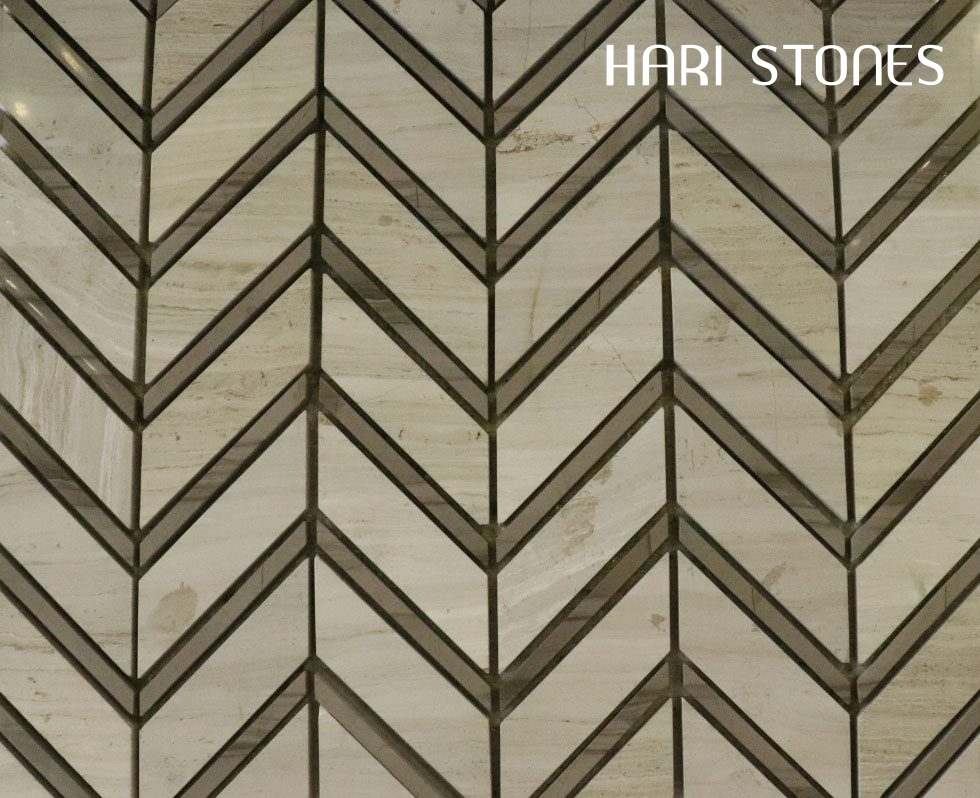 Mosaic Travertine Antique with Athens Grey M28 Suppliers