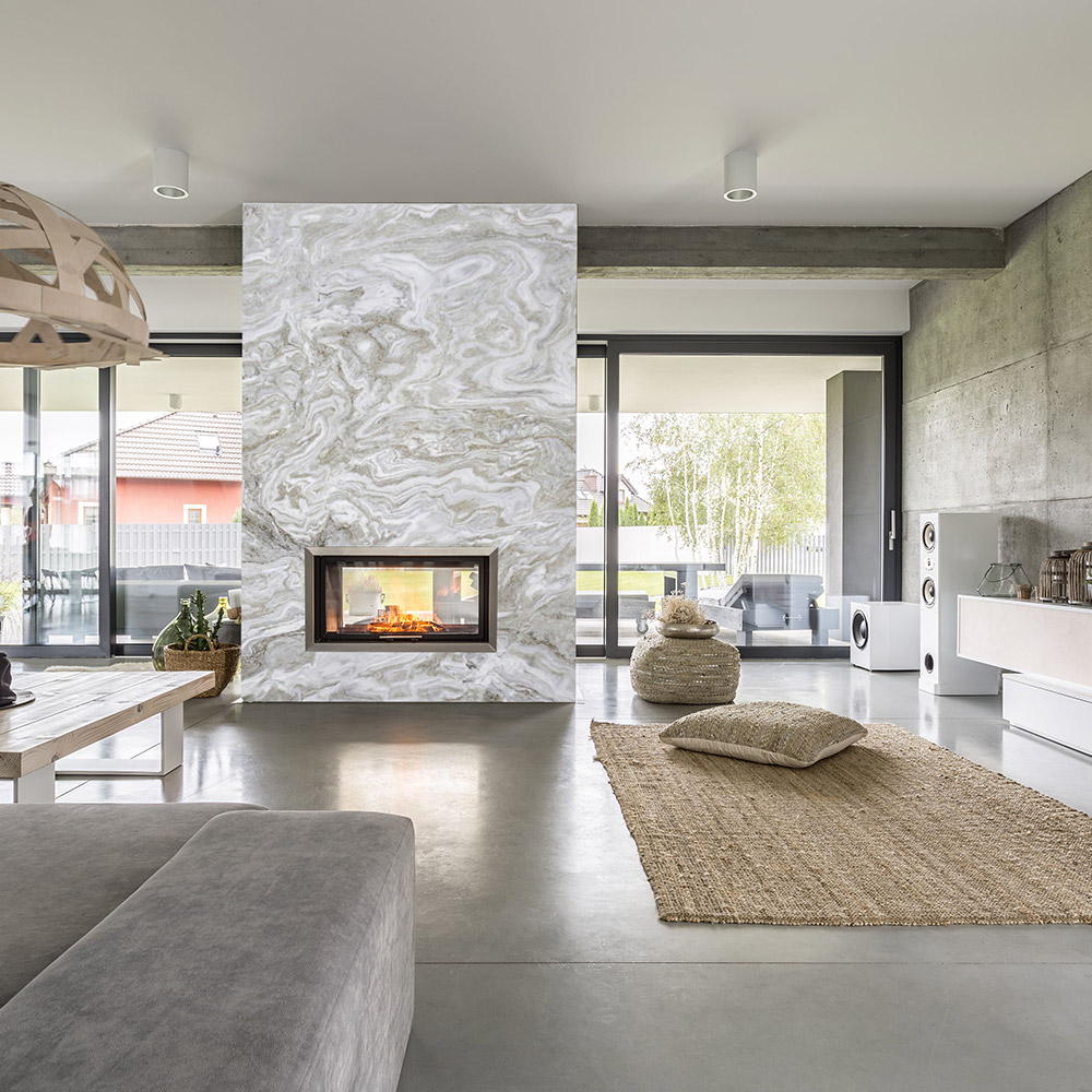 Marble Avalanche Fireplace