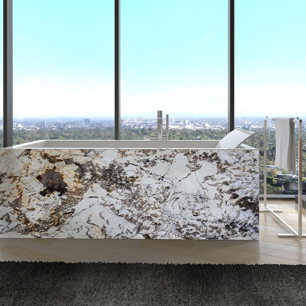 Banheiro Blanc Granite Bathtub