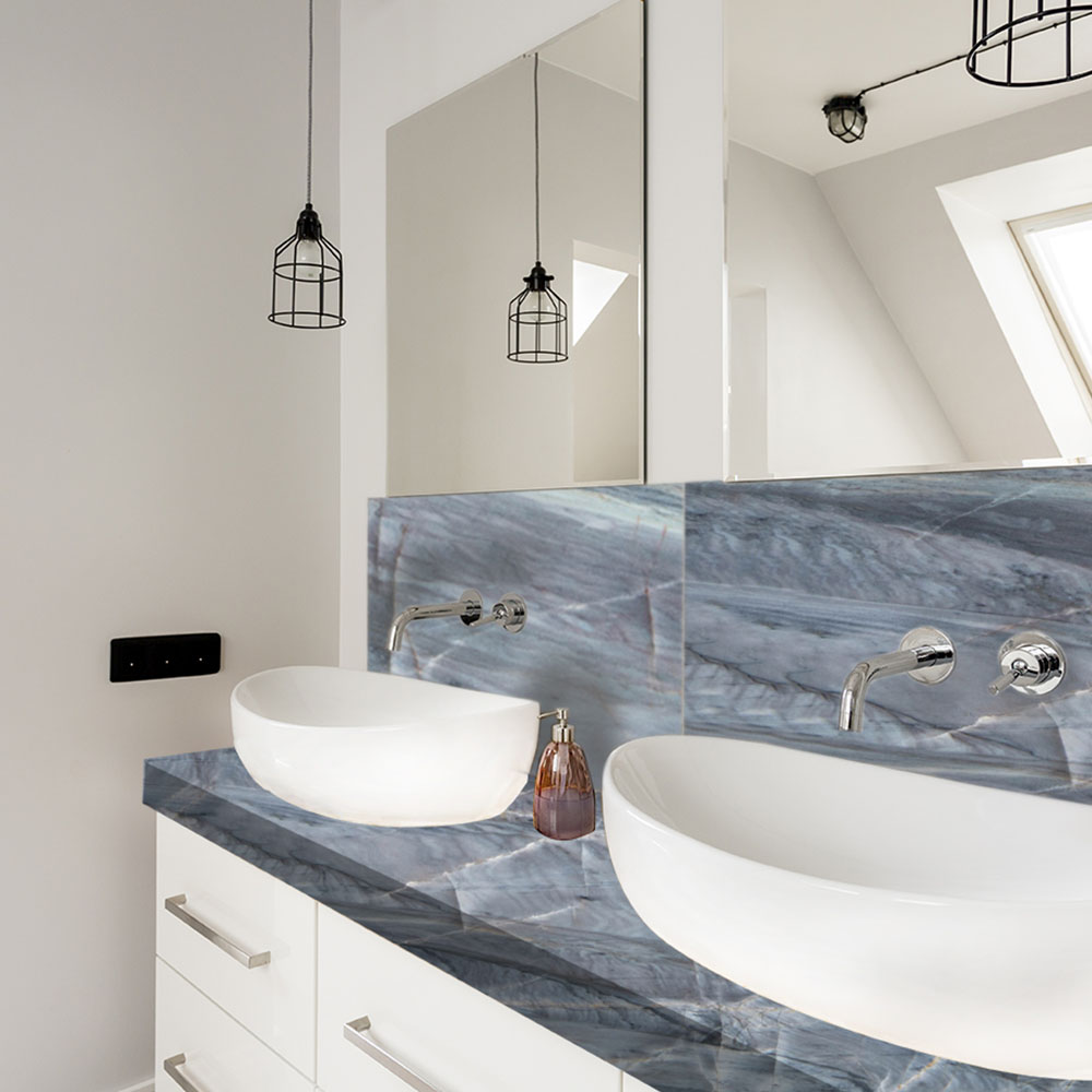 Ocean Blue Granite Bathroom