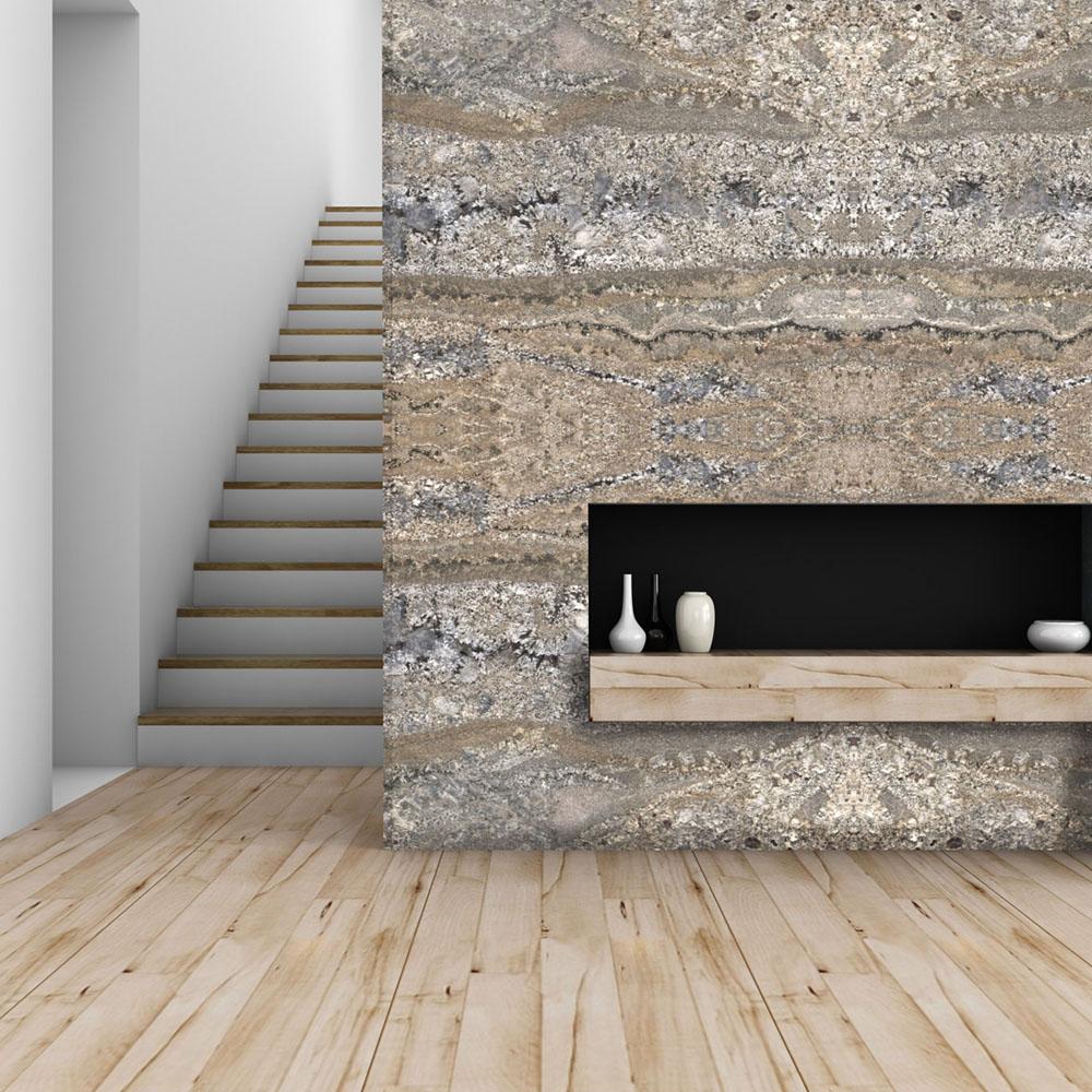 Arara Gold Granite Fireplace