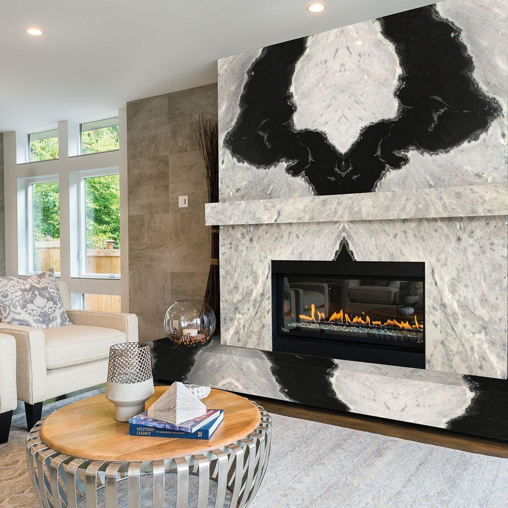 Branco Orca Granite Fireplace