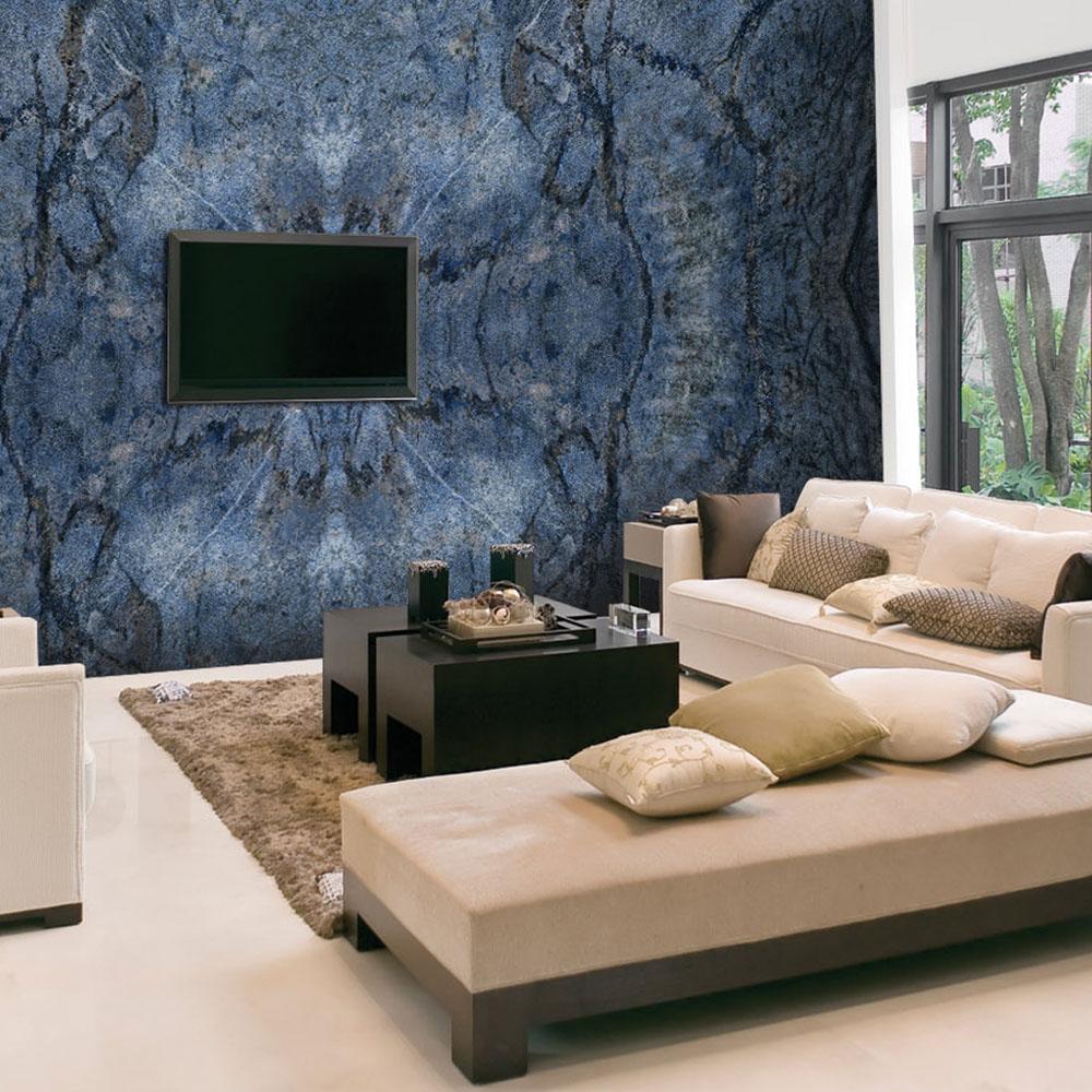 Blue Bahia Granite Wall