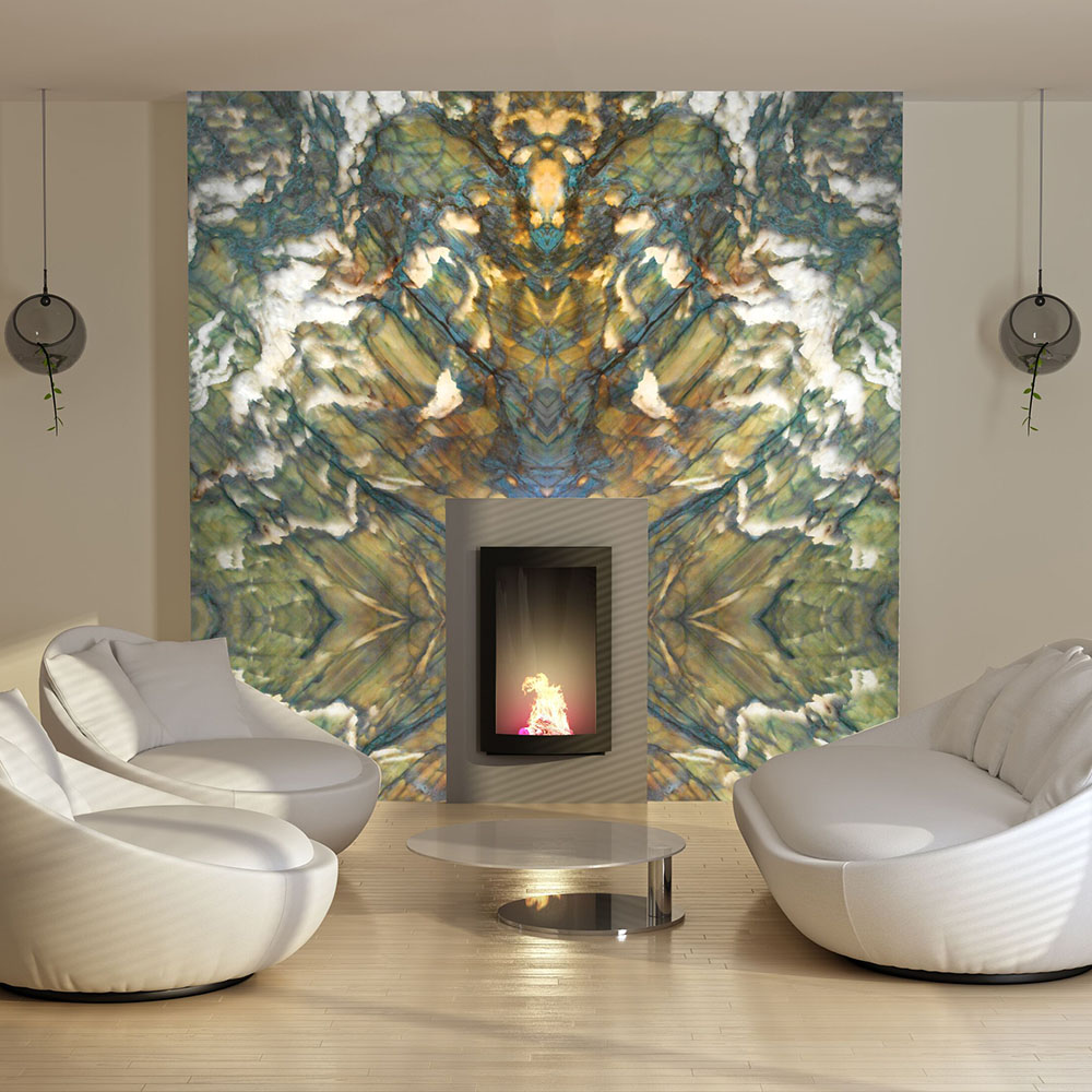 Alexandrita Quartzite Fireplace