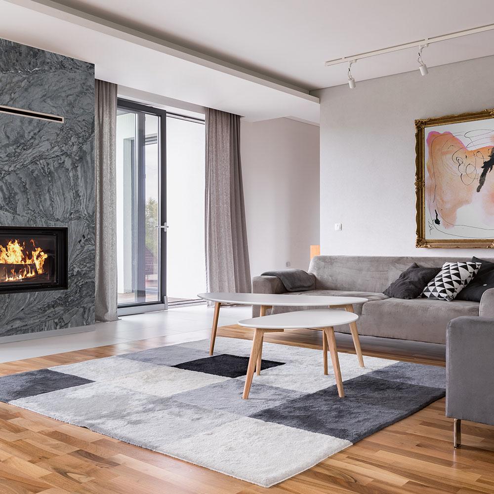 Lareira Adamantium Quartzite Fireplace