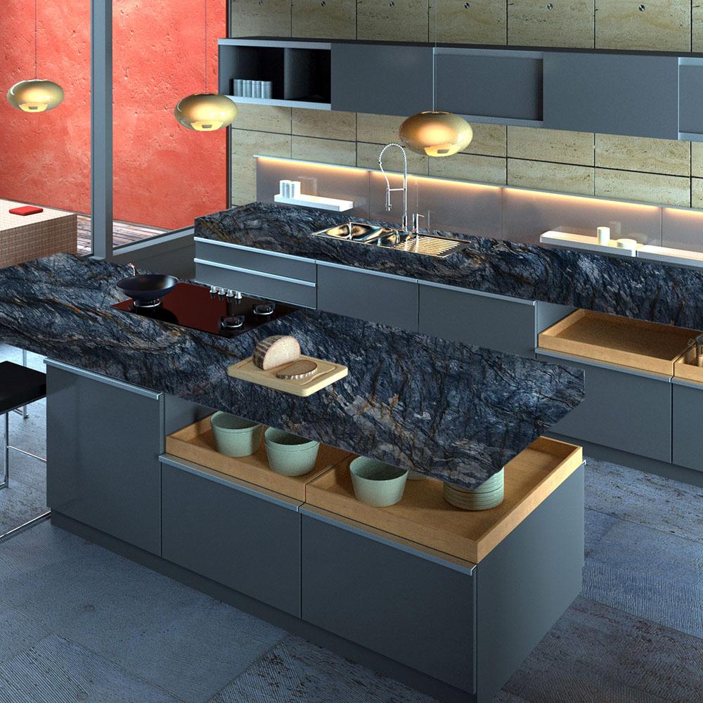 Fusion Dark Cozinha Quartzite Countertops