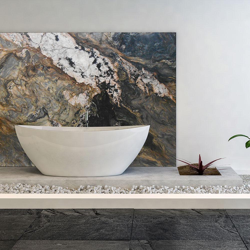 Fusion Banheiro Quartzite Wall