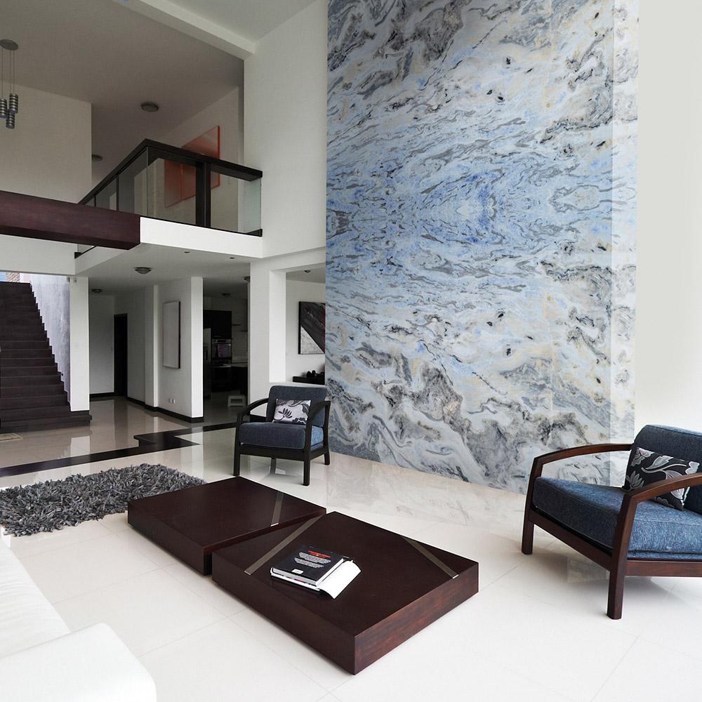 Tesoro Blue Marble Wall