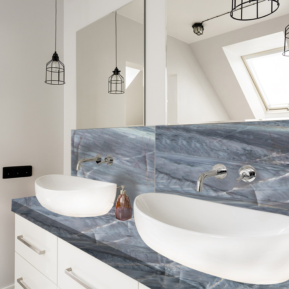 Ocean Blue Granite Bathroom