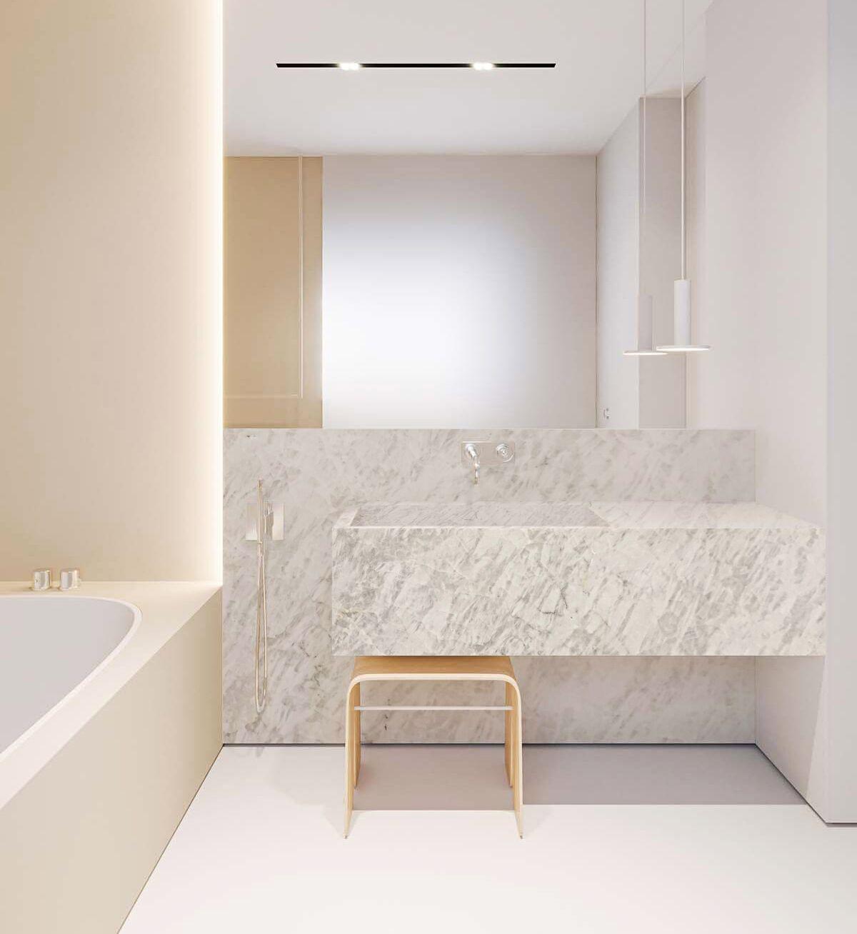 Cristallo Extra Quartzite Bathroom