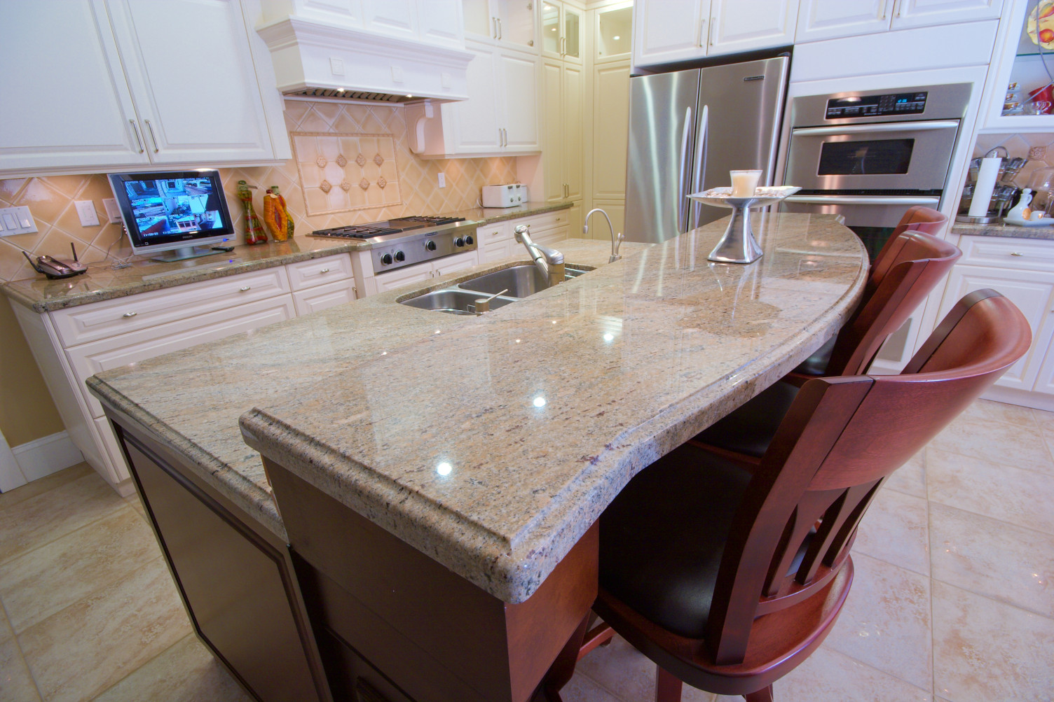 Kashmir Cream Granite Kitchen