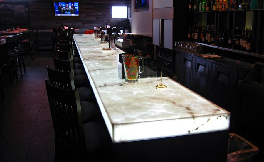 Backlit Onyx Bar Countertop