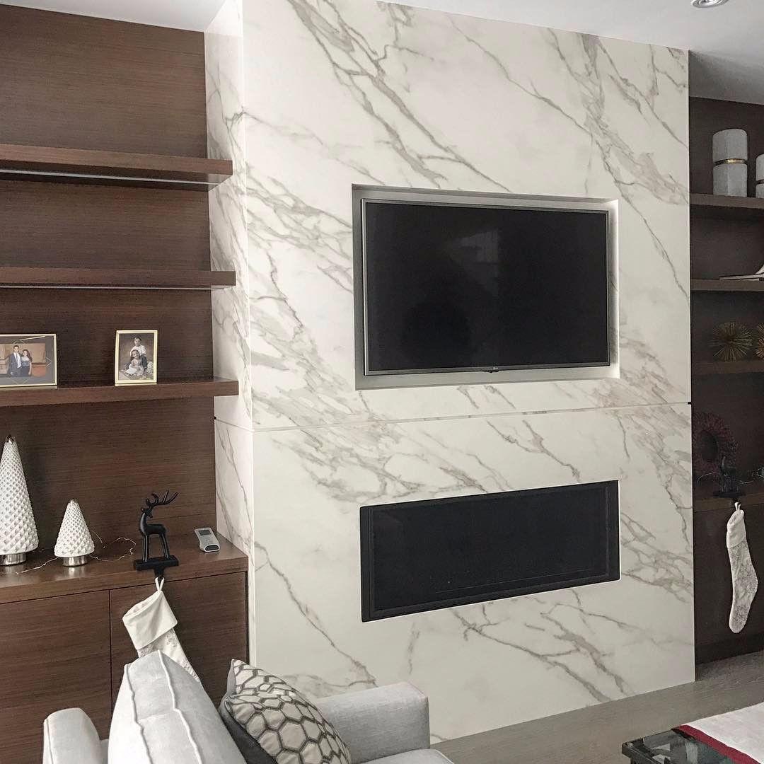 Carrara Marble Fireplace
