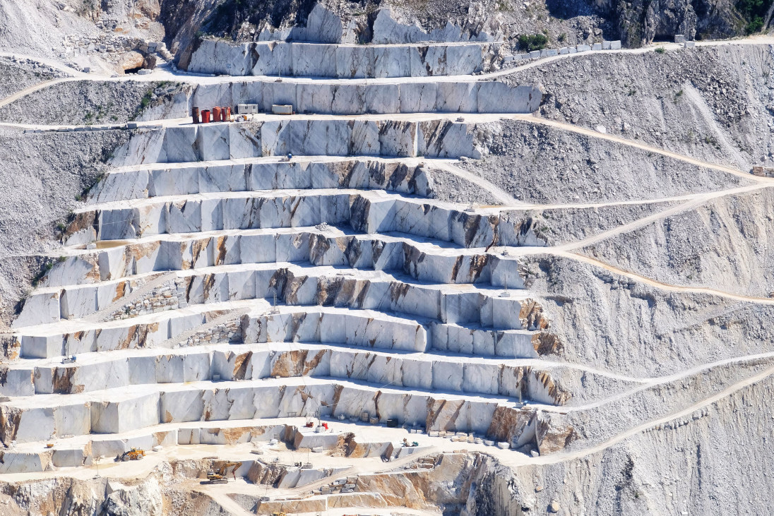 Marble Quarry in Carrara Italy